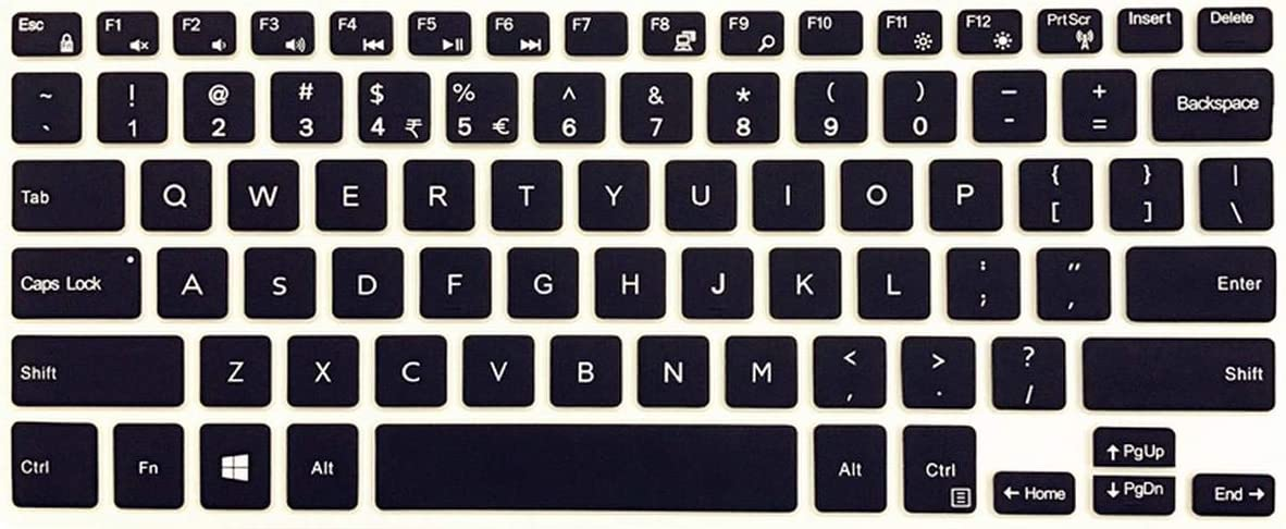 Film Pour Clavier Silicone Keyboard Film Cover Skin Protector for Dell Inspiron Latitude 11 5000 5175 5179 10.8 Inch 11 5000 11 5175 11 5179-Black-