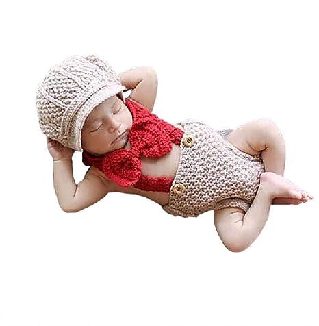 DAYAN Corbata Costume Set hecha a mano del ganchillo del Knit Cap ...