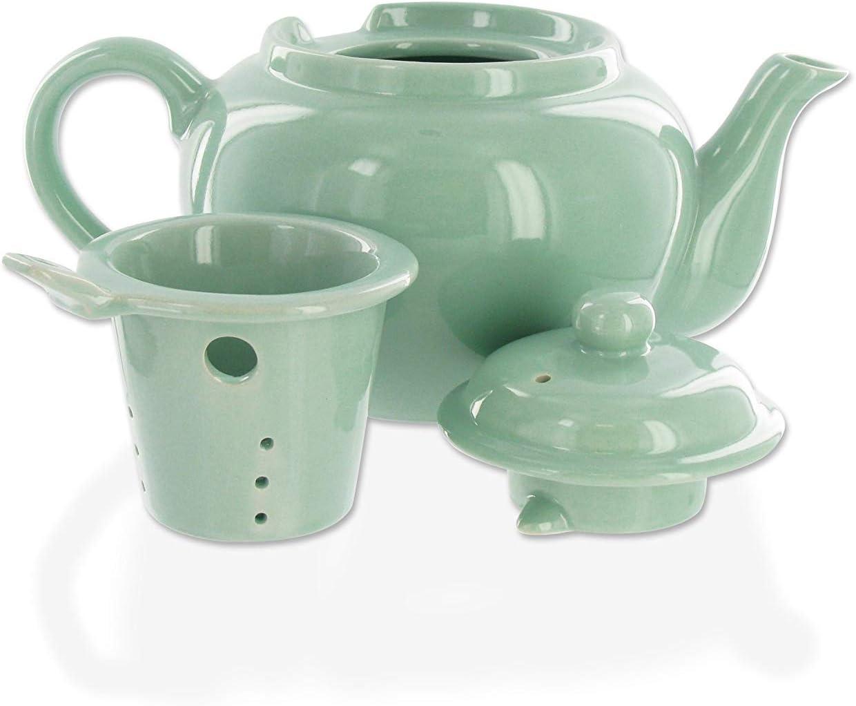Amsterdam 2 Cup Infuser Teapot - Sea Foam