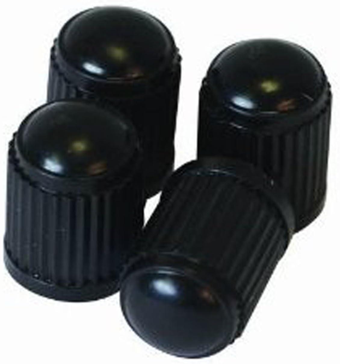 4 x Round Valve Caps Set Brass Car Motorcycle Van Wheel Dust Cap Cover Silver