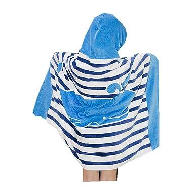 Zilee Kinder Kapuzen Badeponcho Strandtuch Badetuch Jungen Mädchen