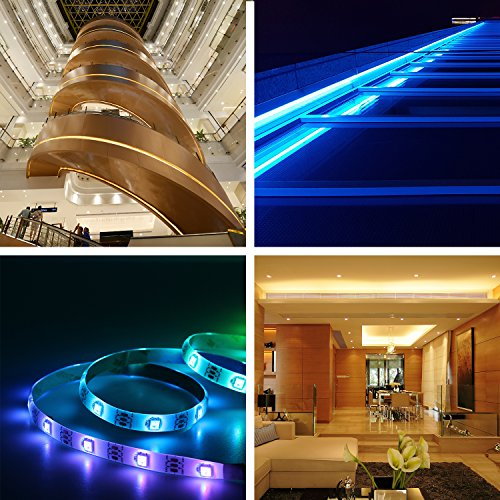 LED Strip Light, IWISHLIGHT 3 Pack 49.2Ft/15M Light Strip SMD 5050 Waterproof Flexible RGB Strip Lights,IP67 Waterproof RGB LED Light Strips for Home Kitchen Car Bar, Power Adapter not Included by IWISHLIGHT (Image #5)