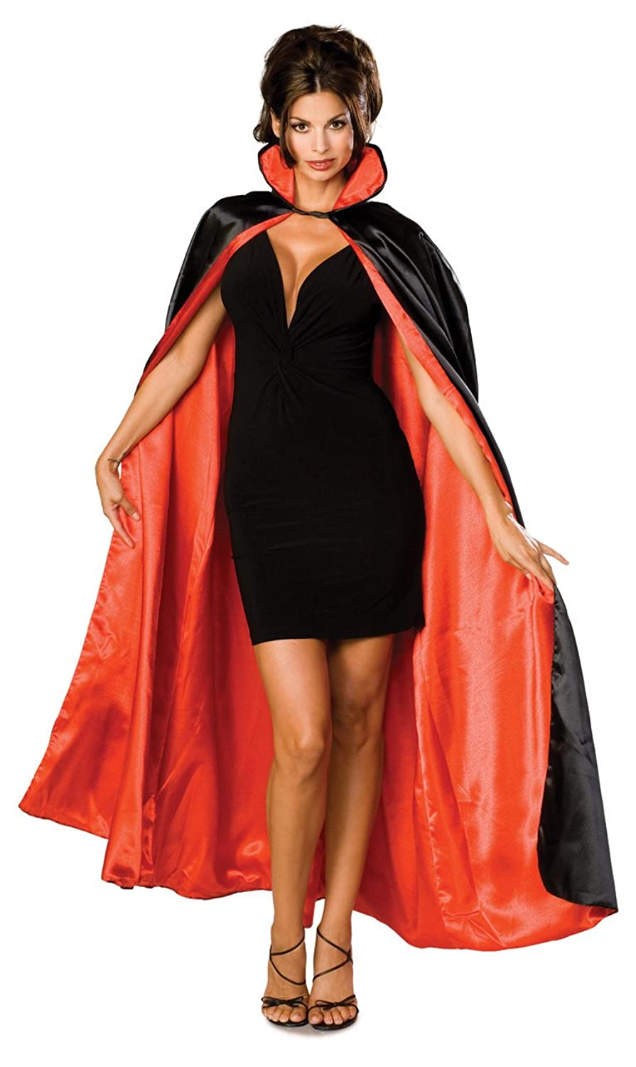 amazoncom rubies costume long satin capeblackredone size costume clothing - Halloween Costumes With A Cape