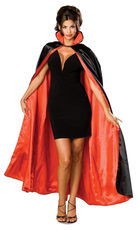 sc 1 st  Amazon.com & Amazon.com: Rubieu0027s Long Satin CapeBlack/RedOne Size Costume: Clothing