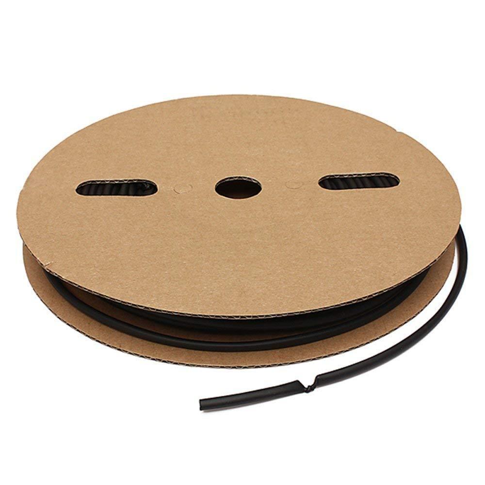 Gasea Diameter 3mm Polyolefin Heat Shrink 2:1 Tubing Length Electrical Sleeving Cable Wire Heatshrink Tube, 100Ft/ 30M