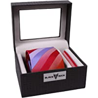 BlackBuck Mens Stripes Tie Set with Pocket Square
