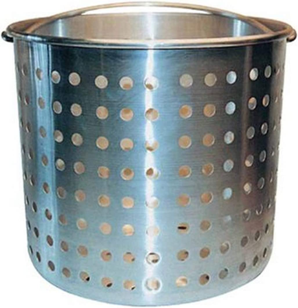 Winware Professional Aluminum Steamer Basket Fits 20-Quart Stock Pot, Silver