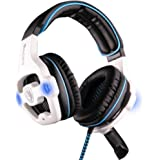 SADES SA-903 7.1 Sound Effect USB Gaming Headset Headphone Earset Earphone with Microphone Blue / White