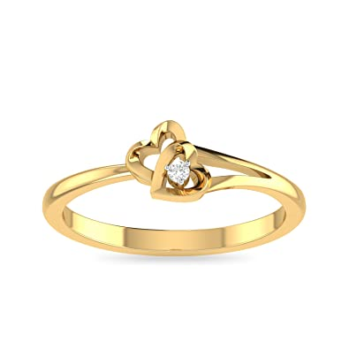 Buy Pc Jeweller The Drusilla 18kt Yellow Gold And Diamond Ring For