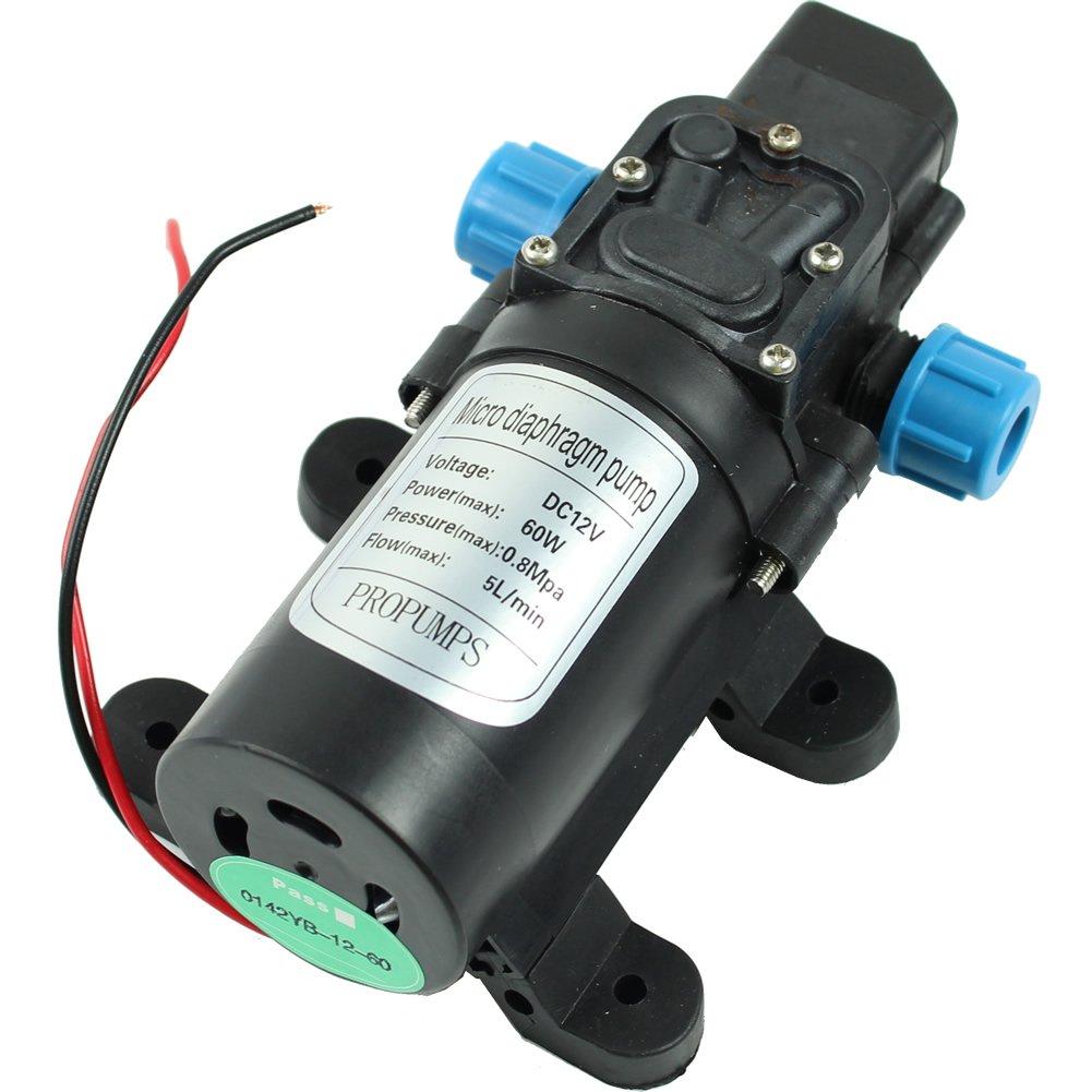 Estone 12V DC 5L/min 60W Micro Car Diaphragm High Pressure Water Pump Automatic Switch