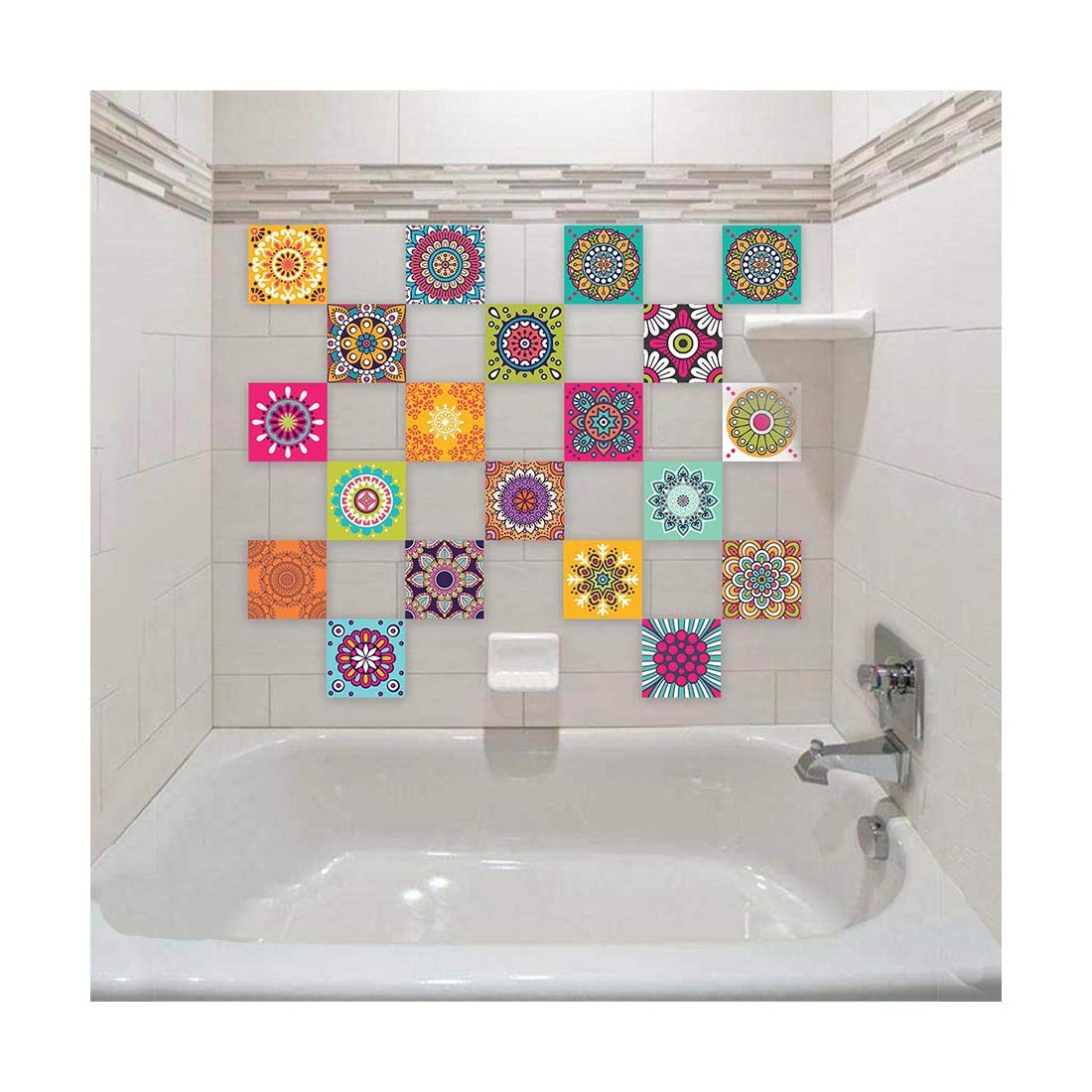 Buy 100yellow Self Adhesive Mosaic Bathroom Waterproof Wall Tiles Stickers Decal 15 X 15 Cm 20 Pieces Online At Low Prices In India Amazon In