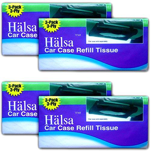 Halsa Auto Visor Tissue Refills for Tempo Visor (4 Bags (Total of 12 -