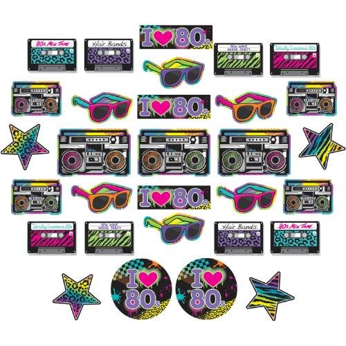 Totally 80's Mega Value Cutouts - Birthday Sunglasses 30