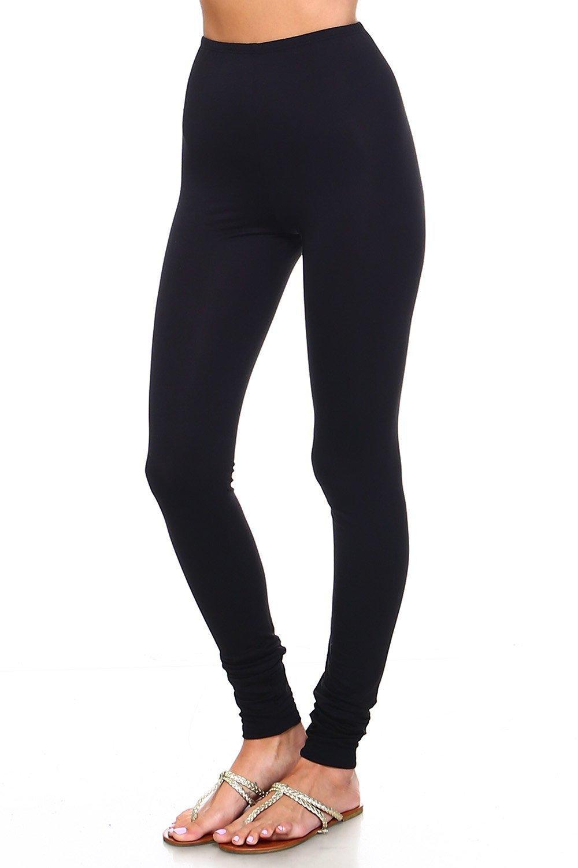Simplicitie Women's Plus Size Premium Ultra Soft High Waist Leggings - Black, 2X - Made in USA