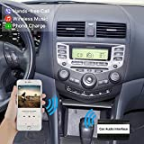 Car Factory Stereo Bluetooth Adapter for Honda Accord Civic CRV Element Odyssey Pilot Fit S2000, Acura CSX MDX RDX TSX, Honda Accord Wireless Music Receiver AUX Cable Cord USB Charger Mp3 Interface