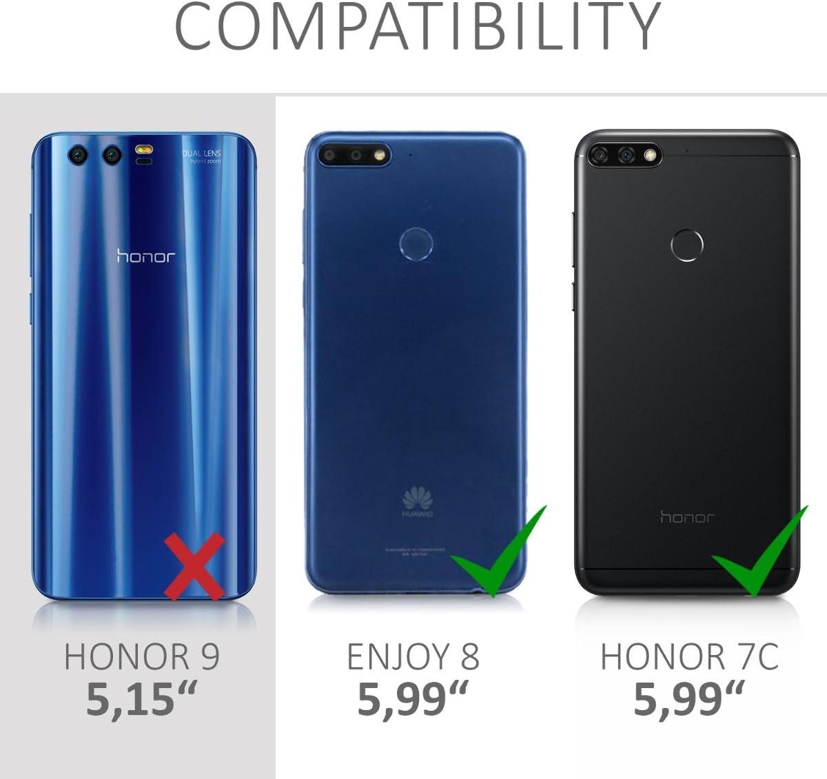 kwmobile Funda Compatible con Huawei Honor 7C / Enjoy 8: Amazon.es ...