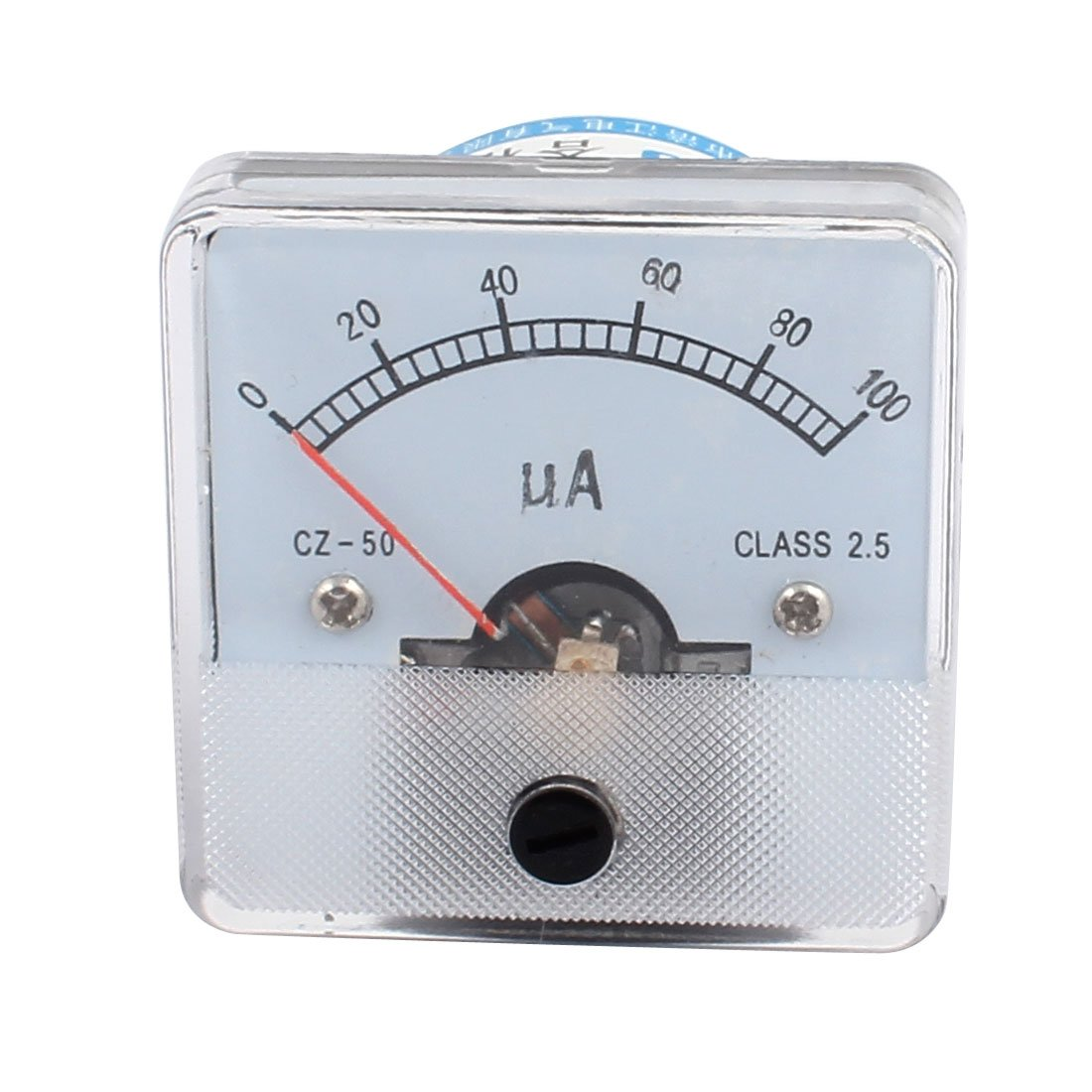 uxcell CZ50 Pointer Needle DC 0-100UA Current Tester Panel Analog Ammeter 50mm x 50mm