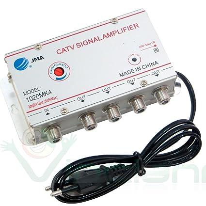 Amplificador de señal de antena para TV digital terrestre y por cable, 4