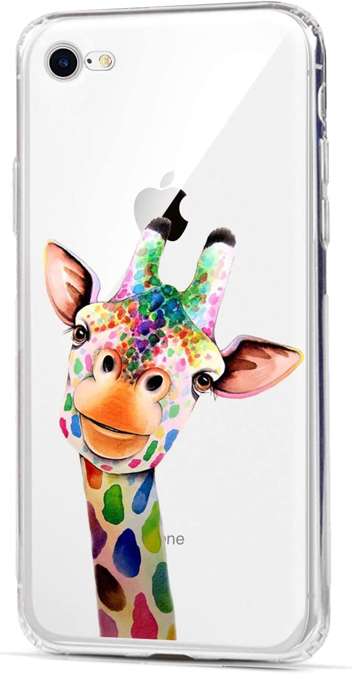 HUIYCUU Case Compatible with iPhone 6 for iPhone 6S Case, Slim Fit Soft TPU Cover Amusing Cute Animal Design Protective Clear Thin Skin Novelty Funny Pattern Bumper Back Case for iPhone 6 6S,Giraffe