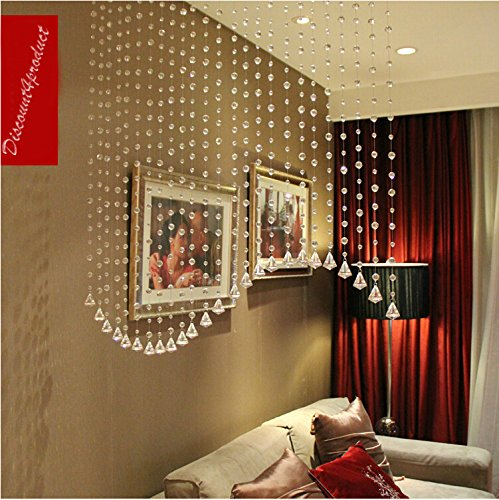 - Discount4product Wave Shape Crystal 25 string Drop Diamond for partition spaces wedding decoration home decoration