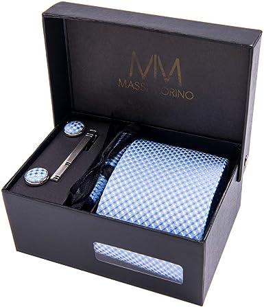 Massi Morino ® Set de corbata (caja regalo para hombres) Corbatas ...