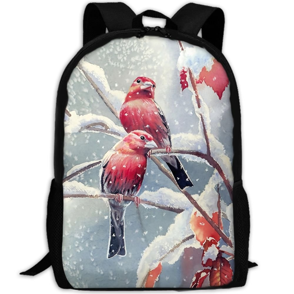 OIlXKV Bird Watercolor Painting Print Custom Casual School Bag Backpack Multipurpose Travel Daypack For Adult by OIlXKV