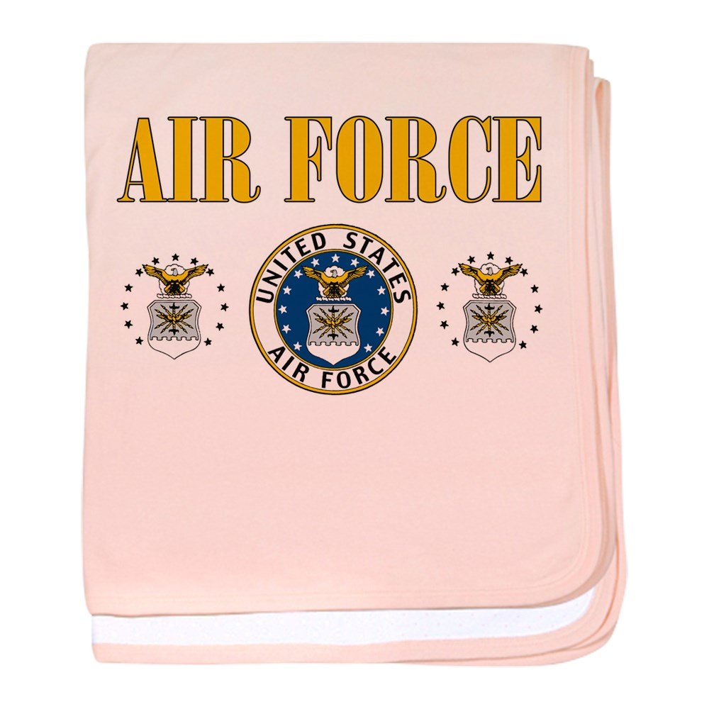 Royal Lion Baby Blanket United States Air Force Military Seal - Petal Pink