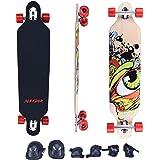 "Slendor 41"" X 9.5"" Maple Drop Through Longboard Complete Skateboard"