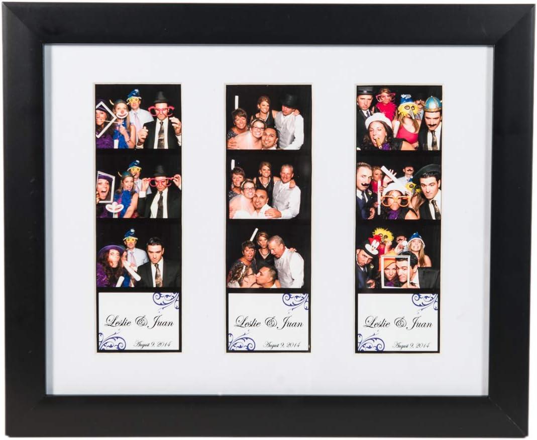 Amazon.com: 8 x 10 marco de fotos con alfombrilla para tres ...