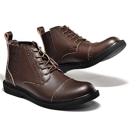 Botines de Moda Casual con Cordones para Hombres: Amazon.es: Zapatos y complementos
