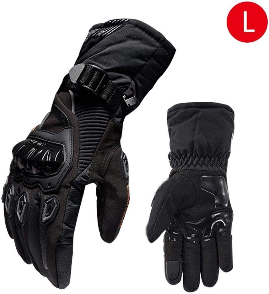 Guantes impermeables para motos de invierno A prueba de viento Cálidos guantes para montar en moto Protección de nudillos dura Guardia Pantalla táctil Guantes de ciclismo