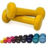 diMio - Mancuernas de vinilo 0,5-6 kg en pack doble, agarre suave, para fitness, entrenamiento de resistencia y musculatura