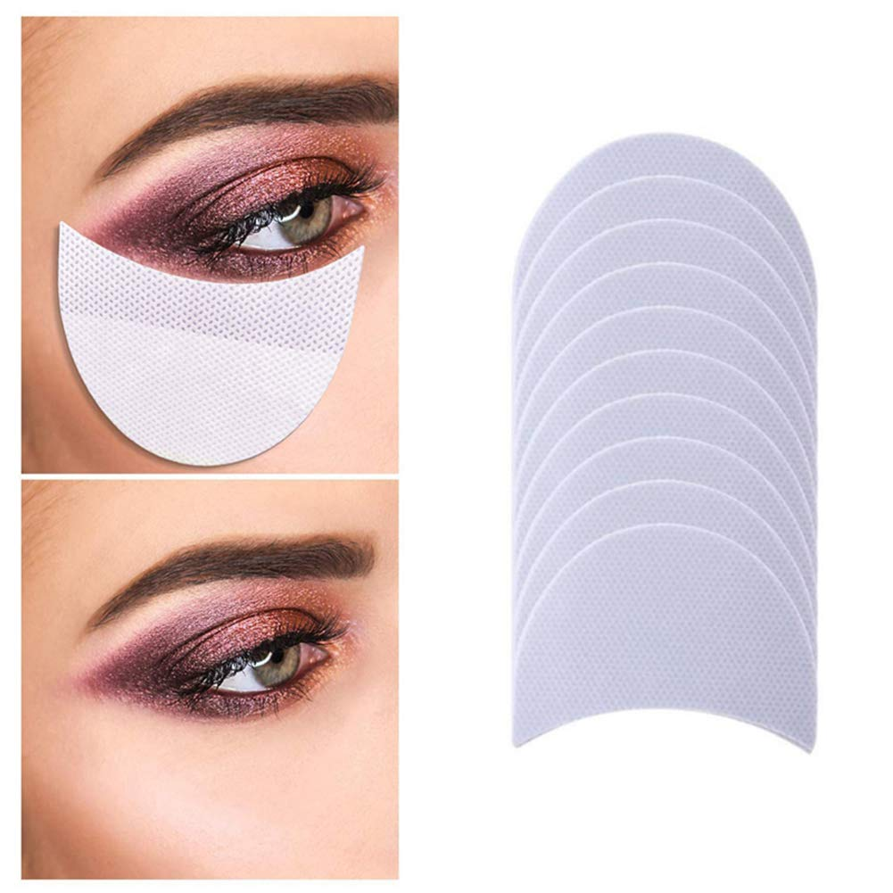 100 Pcs Eyeshadow Shields, Eyeshadow Pads Eyeshadow Patches Eyeshadow Stencils for Prevent Eyelash Extensions, Tinting and Lip Makeup Residue