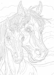 creative haven horses color by number coloring book creative haven coloring books george. Black Bedroom Furniture Sets. Home Design Ideas