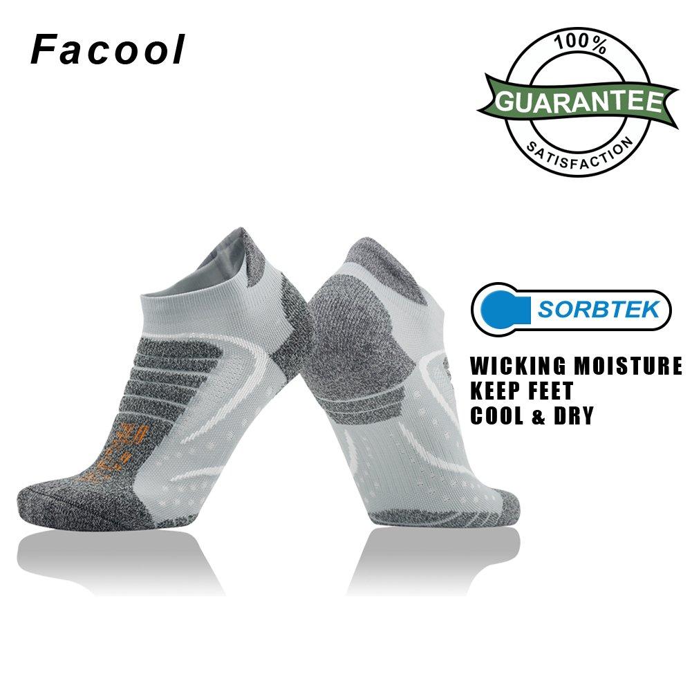 Facool Mens High Performance Low Cut Athletic Running//Hiking Cushion Sports Socks 3//4//6 Pairs