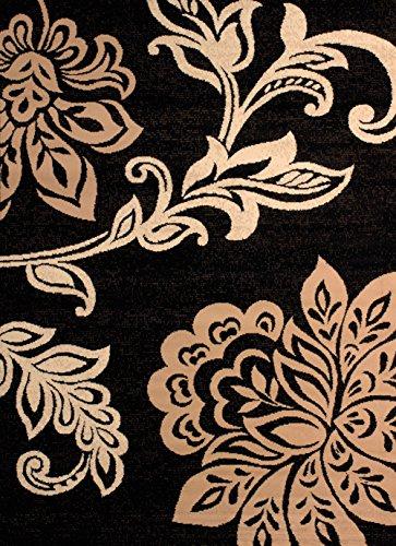 United Weavers of America Dallas Trousseau Rug - 2ft. 3in. x 7ft. 2in, Beige, Polypropylene Rug with Floral Pattern, Jute Backing. Modern Indoor Rugs