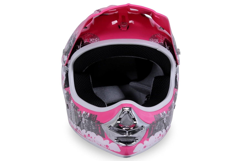 Actionbikes Motors Motorradhelm Kinder Cross Helme Sturzhelm Schutzhelm Helm f/ür Motorrad Kinderquad und Crossbike in schwarz Small