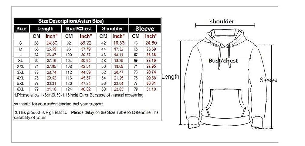 Takra Gold Unisex Nightmare Print Hoodies Pullover Casual Hooded Sweatshirt