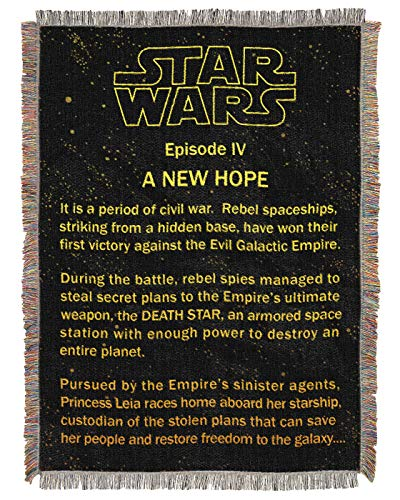 (Northwest Star Wars A New Hope Opening Crawl Tapestry Throw Blanket 48
