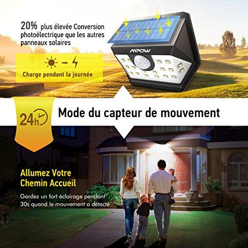 Mpowversion Pack Détecteur Etanche 4 AvancéeLampe 20 Led Solaire XZN8nwkO0P