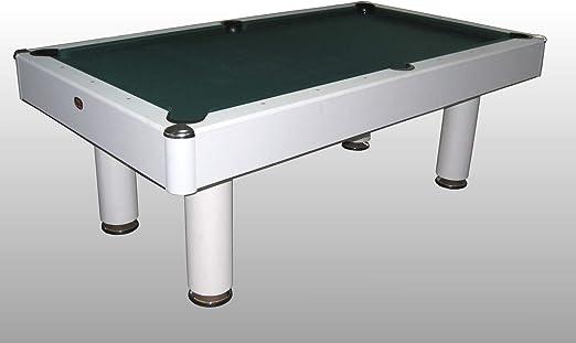NG Biliardi Mesa de Billar Convertible en Mesa de Comedor y Ping Pong Fenice Blanco – r5505 – (216 cm x 123 cm x 82 cm) – Papel Completo de Todos los