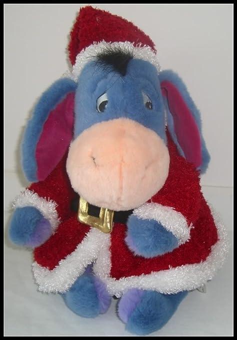 amazon com disney store christmas santa eeyore plush 12 toys games