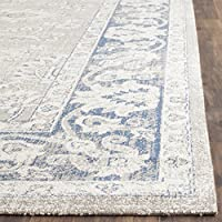 Safavieh Patina Collection PTN324B Taupe and Blue Cotton Runner (22 x 8)