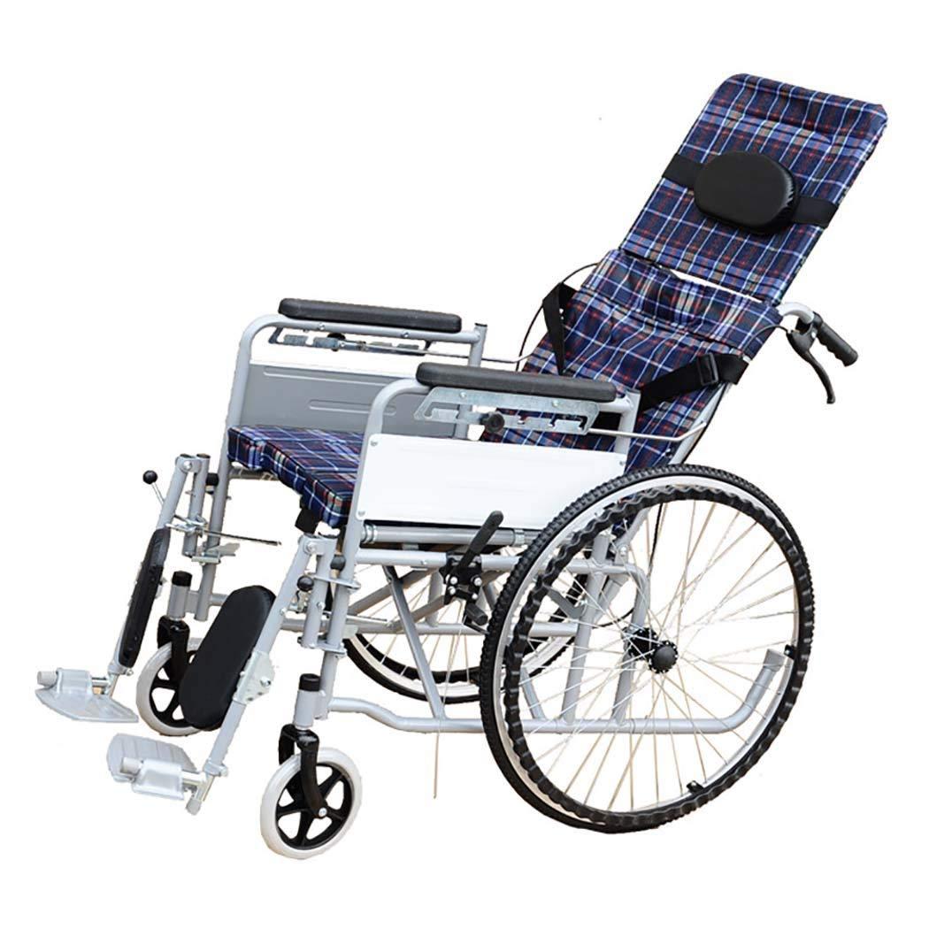超激安 HSBAIS 車いす大人のための軽量折りたたみワイドシート Seat、スチールパイプドライブ医療輸送は横になることができます,19