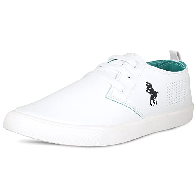 Tempo Men White Synthetic Casual Sneakers Shoes Size 7