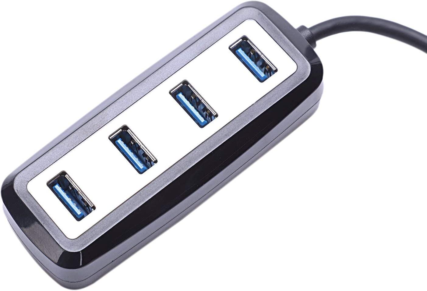 Cables 4-Port USB 3.0 Hub Splitter High Speed Date Transfer Adapter for Pc Laptop Smart Phone Accessories Cable Length: 0.25m, Color: Black