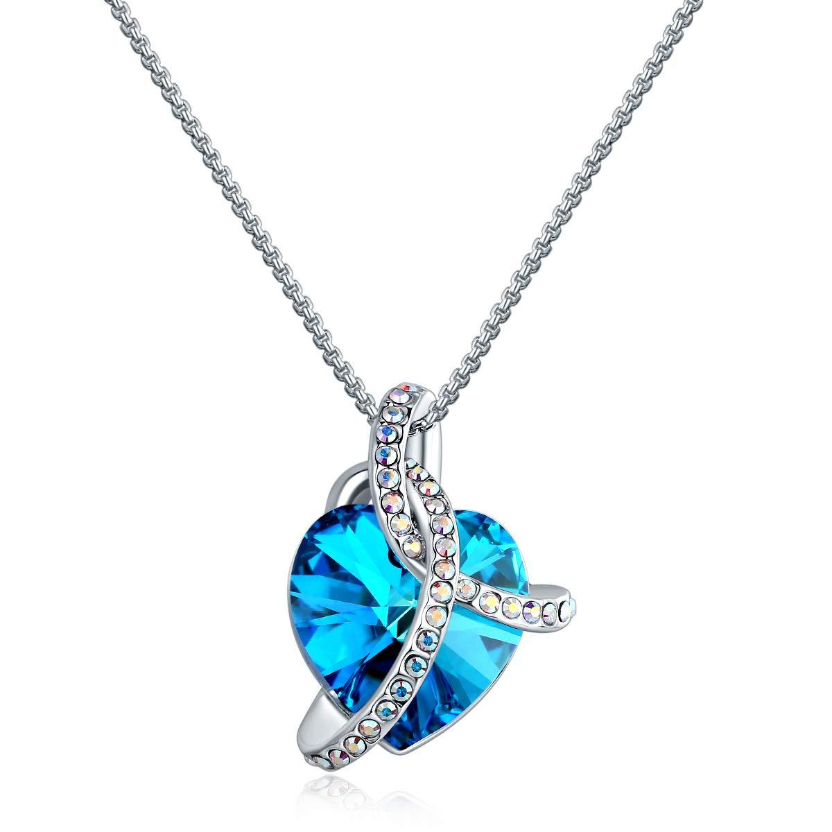 シュクネックレスネックレスラブネックレスハイグレードピーチハートダイヤモンドバレンタインデー、シルバー(2個)   B07HLFSSS2