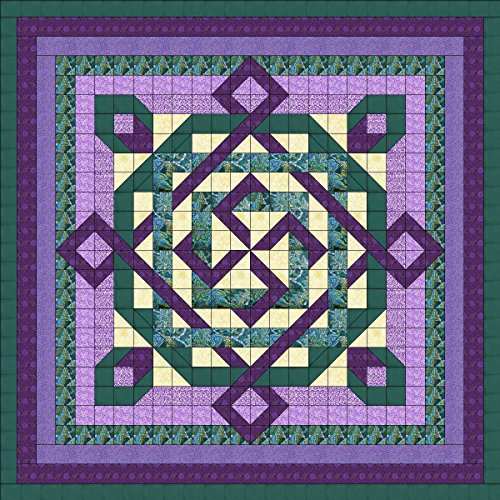 Quilt Kit Celtic Twist/Purple/Teal/QUEEN by Material Maven