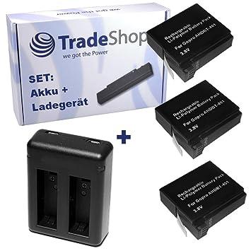 Cargador de batería para cámara GoPro 4 (AHDBT-401): batería ...