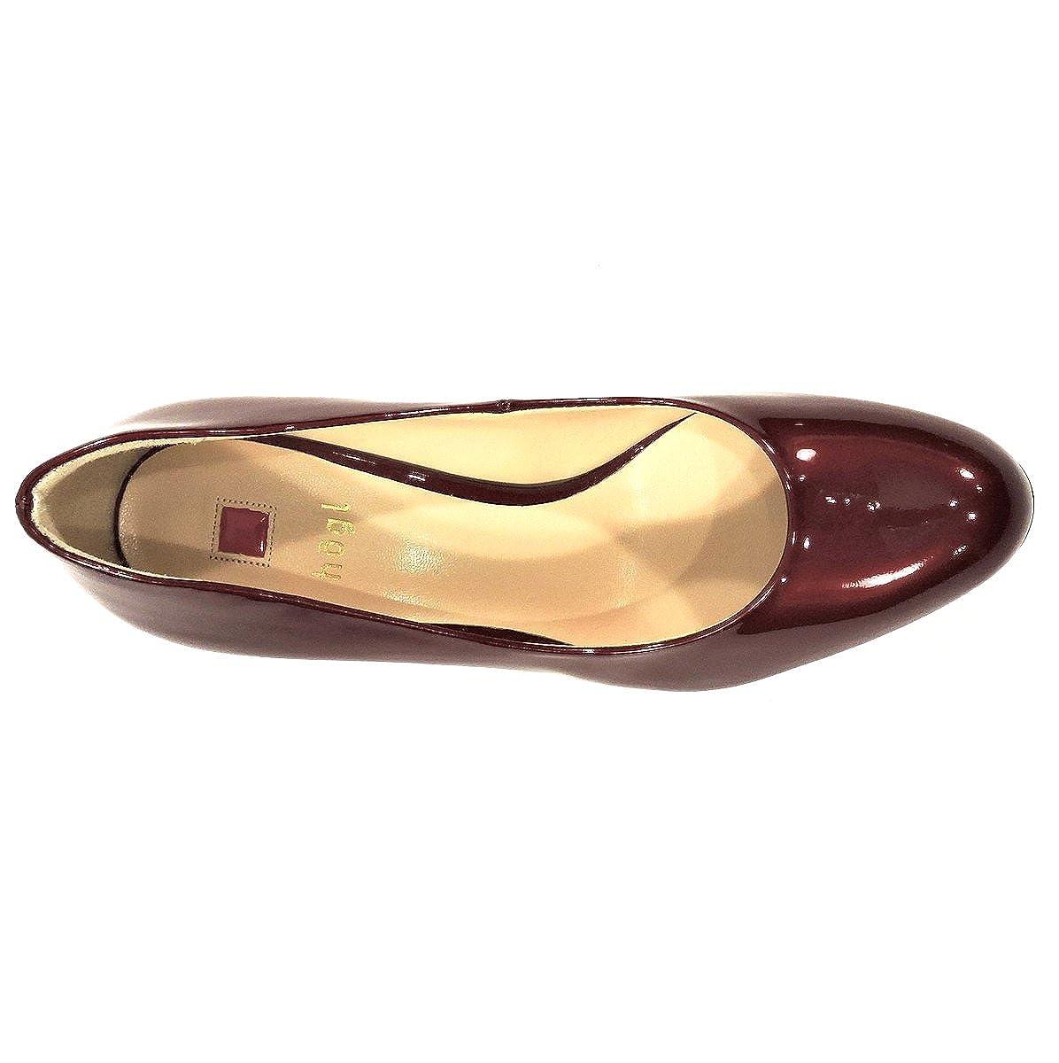 HOGL RED Varnish Leather Womens Platform PAMPS